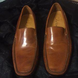 COLE HAAN Men's Brown Dress Loafers